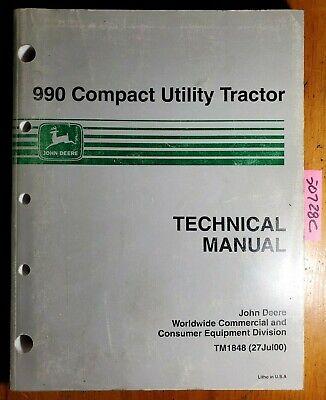 John Deere 990 Compact Utility Tractor Service Technical Manual Tm1848 700