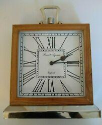 2015 Russel Square of U.K. 11 X 11 Wood and nickel finish quartz Mantle clock