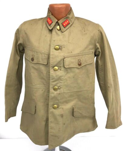 Original WWII Japanese Army Superior Privates Summer Tunic
