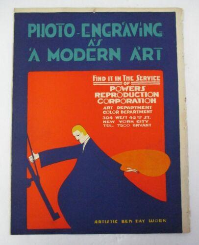 PHOTO ENGRAVING Advertising ARTISTIC BEN DAY WORK circa 1915