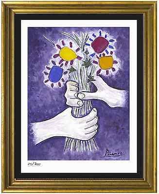 "Pablo Picasso Signed/Hand-Numbr Ltd Ed ""Bouquet of Peace"" Litho Print (unframed)"