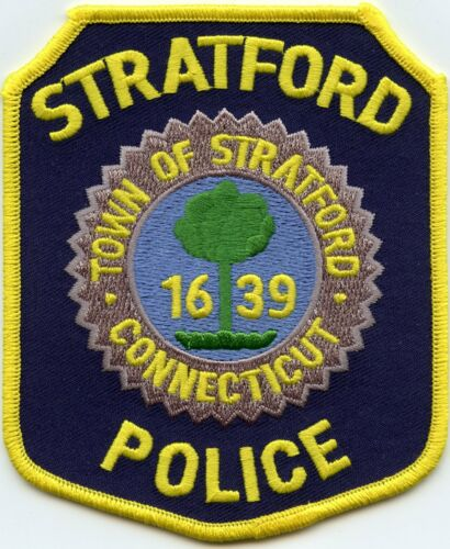 STRATFORD CONNECTICUT CT yellow border POLICE PATCH