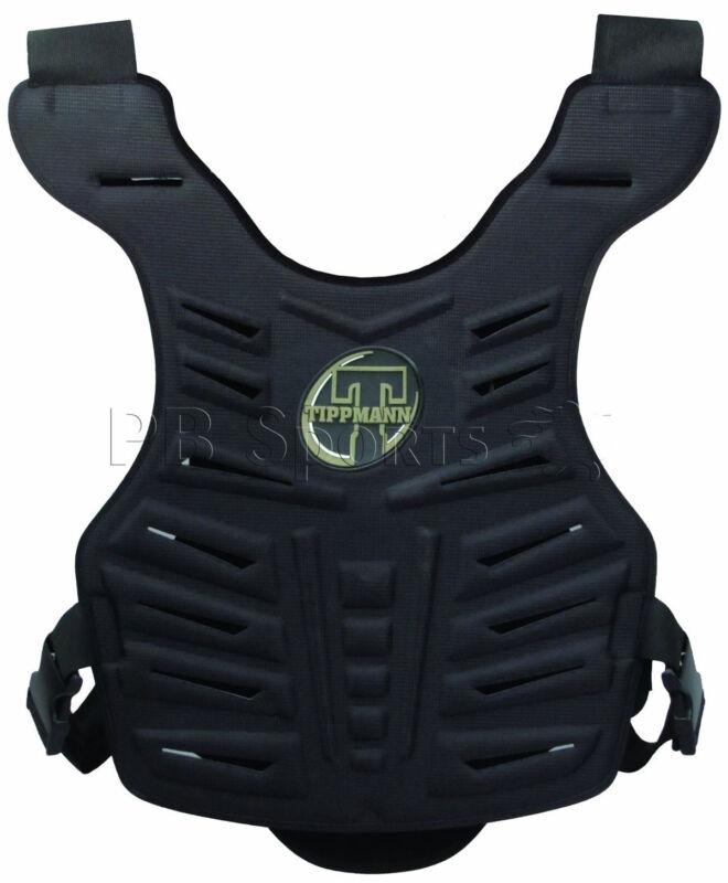 Tippmann Black Paintball padded Molded Hard Vented Chest Protector Body Armor