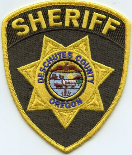 DESCHUTES COUNTY OREGON OR Dark Green SHERIFF POLICE PATCH