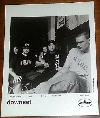 Downset 8x10 B&W Press Photo Mercury Records