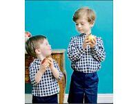 $60 AMAIA KIDS Boys Children Striped Shirt  4 years 10 years