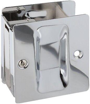 Chrome Pocket Door Hardware - National Hardware N326-322 V1950 Pocket Door Pull, Chrome Plated