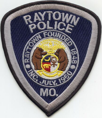 RAYTOWN MISSOURI MO Gray Letters POLICE PATCH