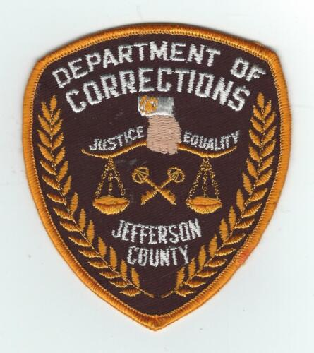 VINTAGE JEFFERSON CO., KENTUCKY DEPT. OF CORRECTIONS  (CHEESE CLOTH BACK) patch