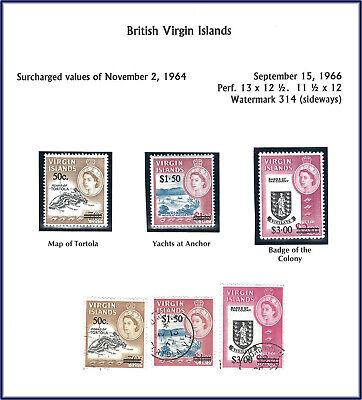 Virgin Islands: 1966 Overprint of 1964 Elizabeth II - Mint and Used sets