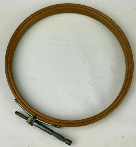 """Vintage Monarch Wooden Embroidery Hoop 5"""" Wood Cross Stitch Hoop Screw Tensioner"""