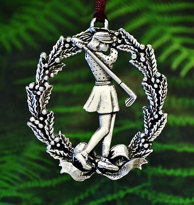 Lady Golfer Christmas Ornament | Golfing Christmas Decorations in Fine - Golf Christmas Decorations