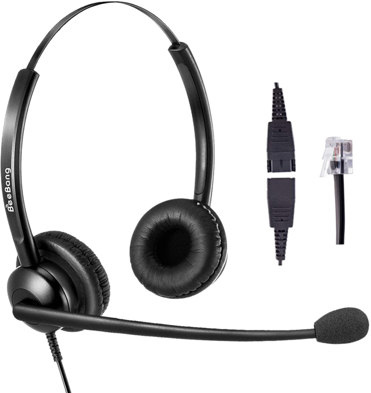 telephone headset for cisco with rj9 jack