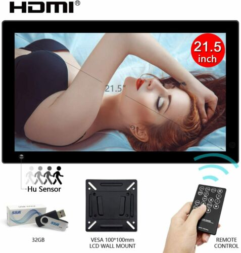 """21.5""""Digital Photo Picture Frame IPS LCD Screen Motion Sensor Advertising Player"""