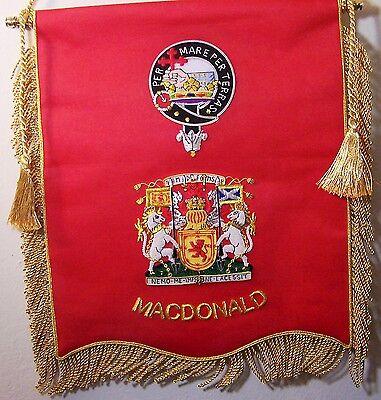 Custom UK Scottish Scotland Irish Ireland Clan Family Name Reunion Banner Flag