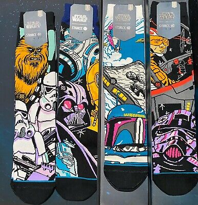 Stance Star Wars Warped Box Set Limited Edition 4 Pair Mens Size Large 9-12