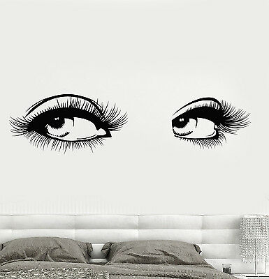 Vinyl Wall Decal Sexy Womens Eyes Eyelashes Girl Beauty Salon - Wall decals eyes