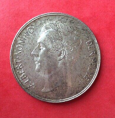 Belgique - Albert Ier  - Superbe   Monnaie de 2 francs en argent 1912 VL