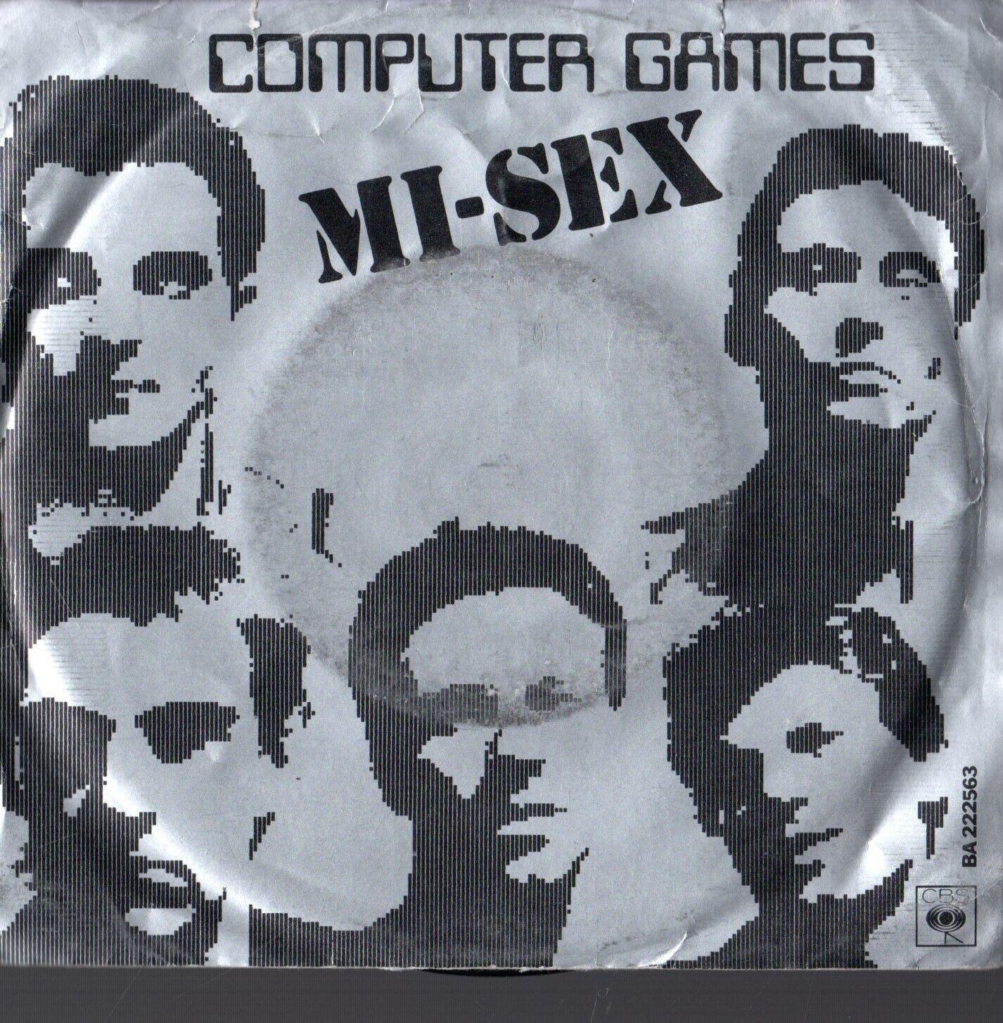 "Computer Games - MI-SEX - COMPUTER GAMES 7"" 45 VINYL RECORD 1987 VGC PICTURE SLEEVE"