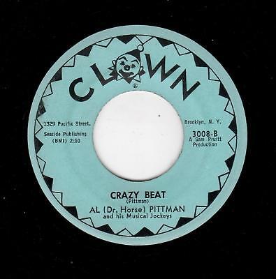 ROCKABILLY/R & B-AL (DR HORSE) PITTMAN-CLOWN 3008-CRAZY BEAT/WOMAN! YOU TALK TOO, used for sale  Upper Darby