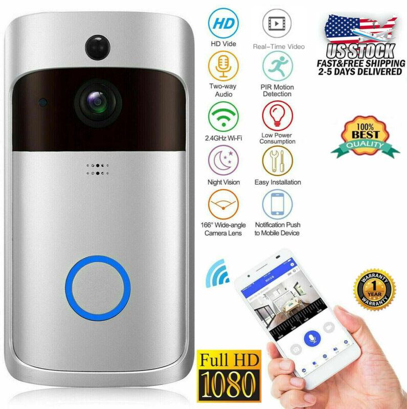 Two Way Door Bell WiFi wireless Video PIR Doorbell Talk HD Camera Smart Security
