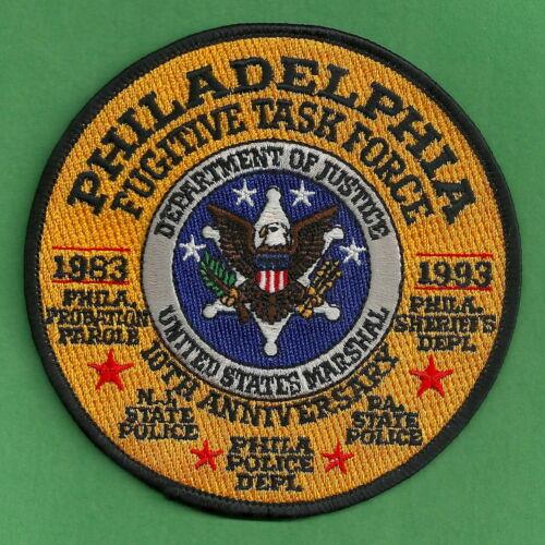 UNITED STATES MARSHAL SERVICE PHILADELPHIA FUGITIVE TASK FORCE SHOULDER PATCH