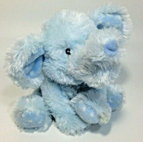 "Baby Russ EllieFumps ELEPHANT Blue Plush Stuffed Animal Musical Lullaby 8"""