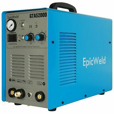 Epicweld Plasma Cutter Gta5200d 50 A 200 A Tig Arc Mma Welder 110220v New