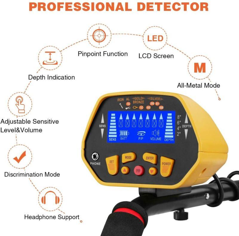 Canway Metal Detector High Accuracy Adjustable Waterproof Metal Finder, LCD Disp