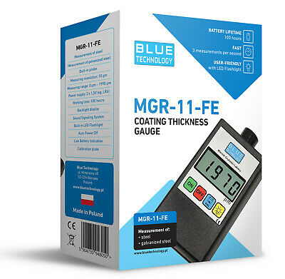 Paint Coating Thickness Gauge Meter Tester Mgr-11-fe Manufacturer Made In Eu