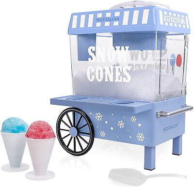 Vintage Snow Cone Maker Ice Machine Nostalgia Scm502 Sno Shaver Crusher Shaved