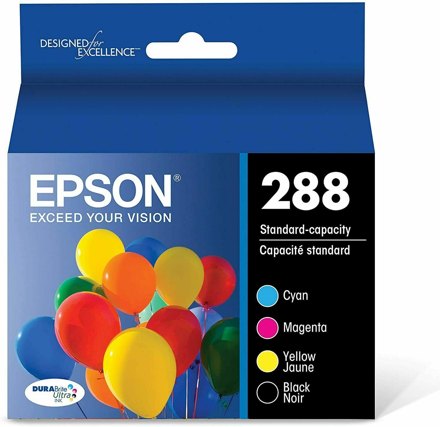 Epson 288 Black, Cyan, Magenta, Yellow Ink Cartridges 4 Pack