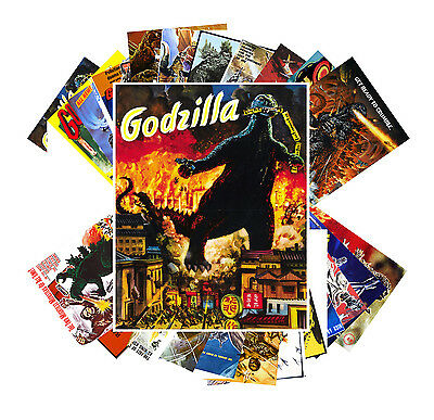 Postcards Pack [24 cards] Godzilla Vintage Horror Kaiji Movie Posters CC1001