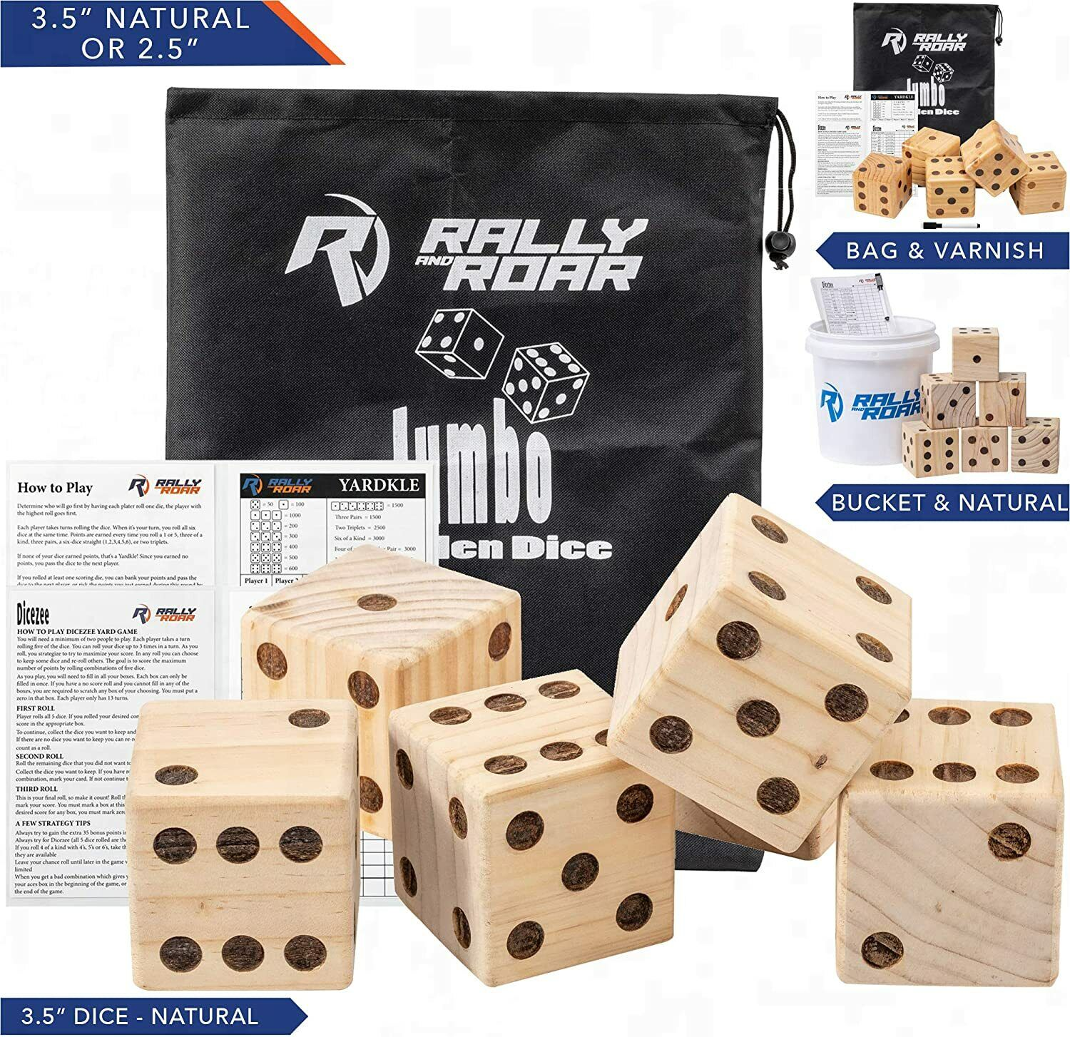 Giant Dice Game Set For Adults Kids Families Outdoor Wooden Dice Games Sets Ebay