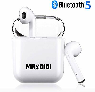 Wireless iPhone Twin Ear Pods With Case!Bluetooth Phone Ear Buds Headphones
