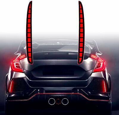 LED Red Lens Bumper Reflector Lights For Honda Civic Hatchback 2017 2018 -