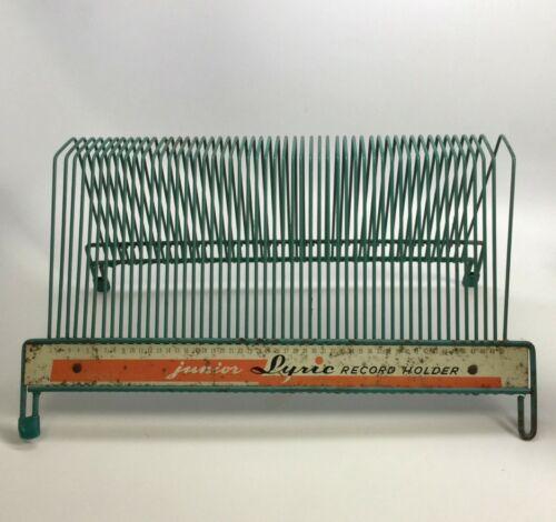 Lyric Junior Record Holder Green Wire Mid - Century Collectible Music & Audio
