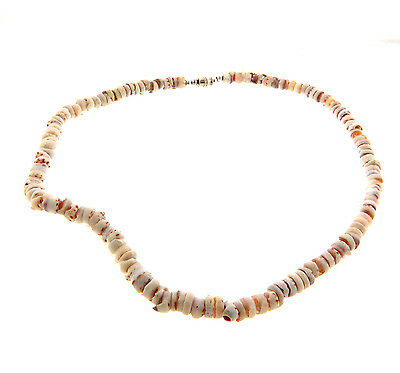 Vintage Genuine Puka Shell Necklace 7mm 18""