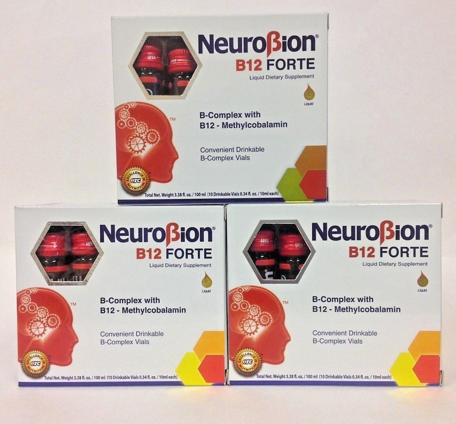 3 NEUROBION B12 FORTE SUPPLEMENT 10 Drinkable Vials / SUPLEMENTO BEBIBLE