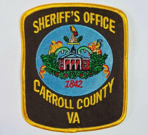 Carroll County Sheriff Virginia VA Patch (C1)