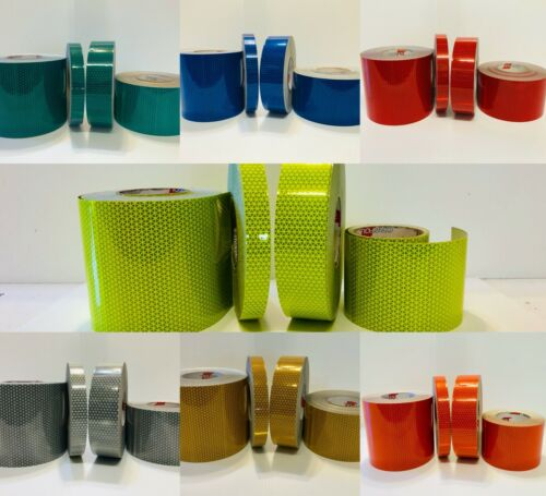 """Oralite V98 Reflective Tape Orafol 7 Colors 1"""" 2"""" 4"""" 6"""" Conspicuity Safety Tape"""