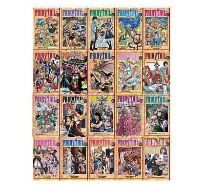 Fairy Tail Collection Series Set 1-20 English Manga Graphic Novels Set Brand New