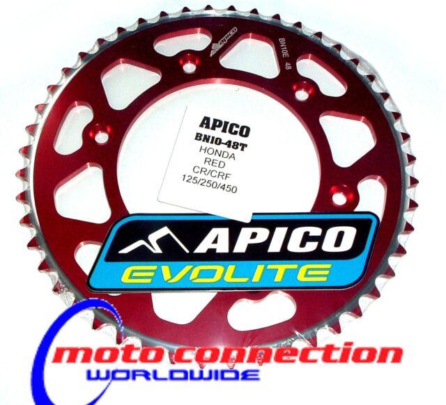 APICO EVOLITE Honda CR125 CR250 CRF250 CRF450 Rear Red Sprocket 48 Teeth