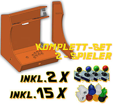 Arcade Bartop Mame Videospielautomat Arcade Bartop Bausatz DIY Kit - 2 Player
