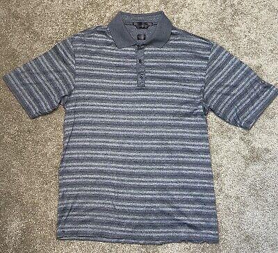 Nike Tiger Woods Men's Medium M Golf Polo Shirt Black Gray