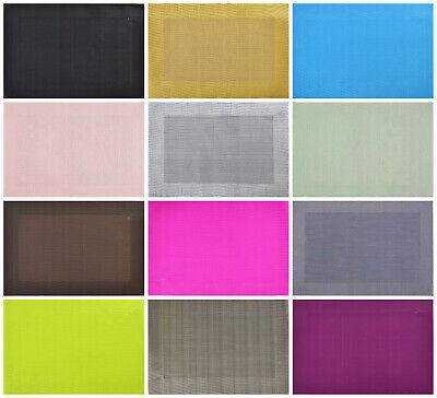 Tischset Platzdeckchen Platzset 45x30 cm abwaschbar Kunststoff PVC versch Farben