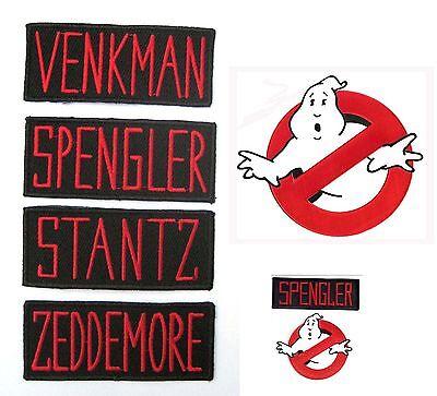 Ghostbusters VENKMAN Zeddemore Stantz Spengler Uniform Kostüm Patch Aufnäher - Ghostbusters Venkman Kostüm
