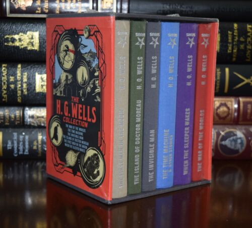 The H. G. Wells Collection War Worlds 6 Volume New Sealed Hardcover Box Set