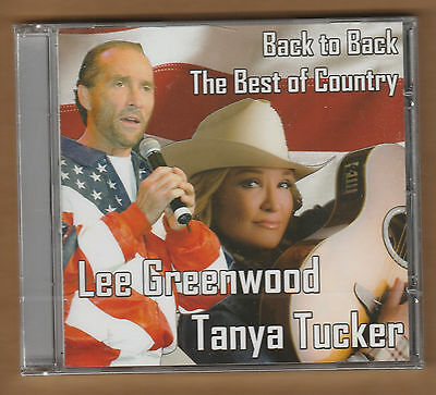 Lee Greenwood   Tanya Tucker Cd  Back To Back The Best Of Country  New 16 Tracks