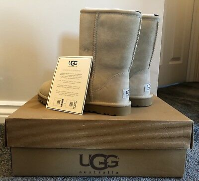 BNWT New UGG Classic Stone Short Women's Boot UK Size 3.5 Boxed With Receipt